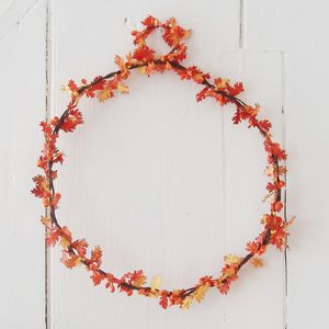 Oak Leaf And Orange Berry Wreath - wreaths