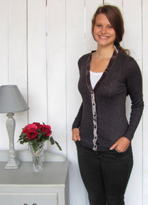 Hope Velvet Grey Cardigan - jumpers & cardigans