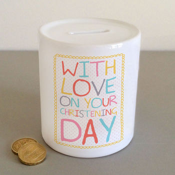 Christening, Baptism And Naming Day Money Jars