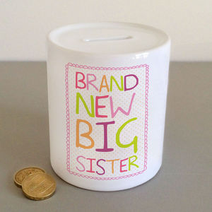 'Brand New Big Sister' Money Jar