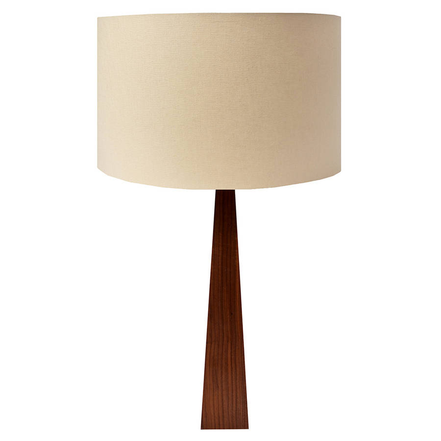 natural wooden table lamp by hunkydory home. Black Bedroom Furniture Sets. Home Design Ideas