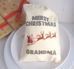 Personalised Mini Christmas Sack - table decorations