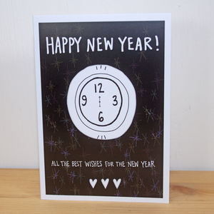 'Happy New Year' A6 Greetings Card