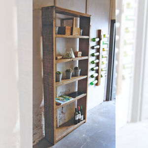 Reclaimed Wood Scaffold Shelving Unit - shelves