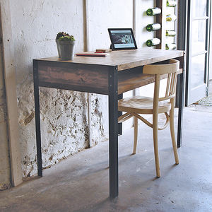 Scaffold Writing Desk With Angle Steel Legs - furniture