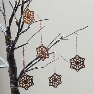 Rust Metal Snowflake Decorations - view all decorations