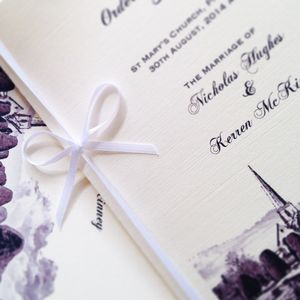 Bespoke Order Of Day/Service Booklet