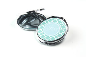 Personalised Compact Mirror Clover