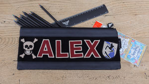 Personalised Long Navy Pencil Case - pens, pencils & cases