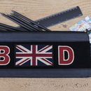 Personalised Long Navy Pencil Case