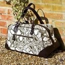 Florence: Printed Canvas & Leather Weekender