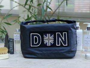 Personalised Wash Bag - men's grooming & toiletries