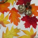 Autumn Wedding Table Leaves