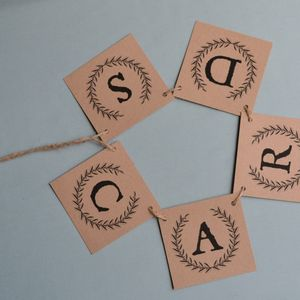 Personalised Wedding Cards Bunting - bunting & garlands