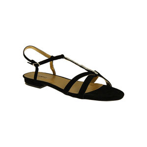 Dara Crystal Trimmed Flat Sandal - shoes