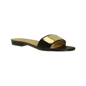 Polly Gold Trimmed Mule - shoes