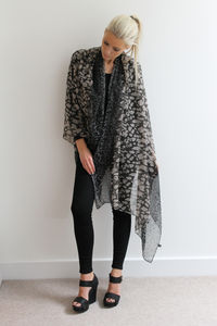 Leopard Two Tone Scarf - tops & t-shirts