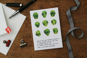 Brussels Sprouts Christmas Card