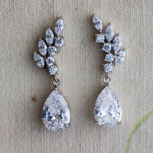 Amaris Crystal Earrings - wedding fashion