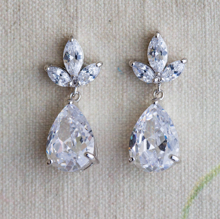 02210f3e874013 zarina crystal earrings by lola & alice | notonthehighstreet.com