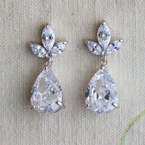 Zarina Crystal Earrings - 'mother of the bride' fashion and accessories