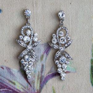 Victoria Crystal Earrings - women's jewellery