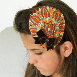 Vintage Paisley And Velvet Headpiece