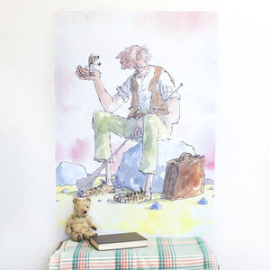 'The Bfg' Roald Dahl Wall Sticker - wall stickers