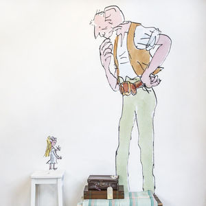 Quentin Blake 'The Bfg' Wall Sticker - wall stickers