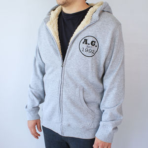 Personalised Men's Established Sherpa Hoodie