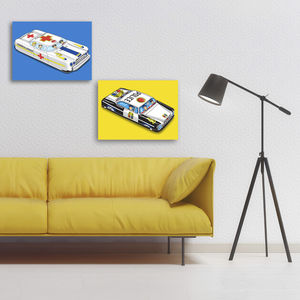 Pop Art P D Patrol Car Tin Toy Print - children's room