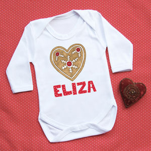Personalised 'First Christmas' Heart Vest - babygrows