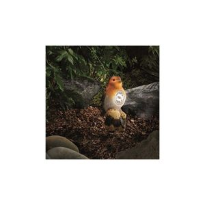 Solar Robin Spotlight Garden Ornament - art & decorations