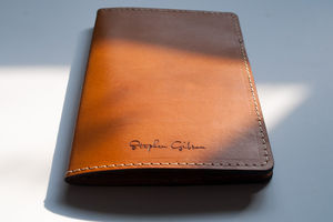 Personalised Leather Passport / Travel Wallet