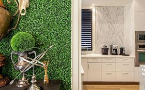 Artificial Boxwood Wallpaper - home accessories