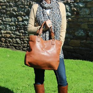 Classic Leather Tote Handbag - must have bags
