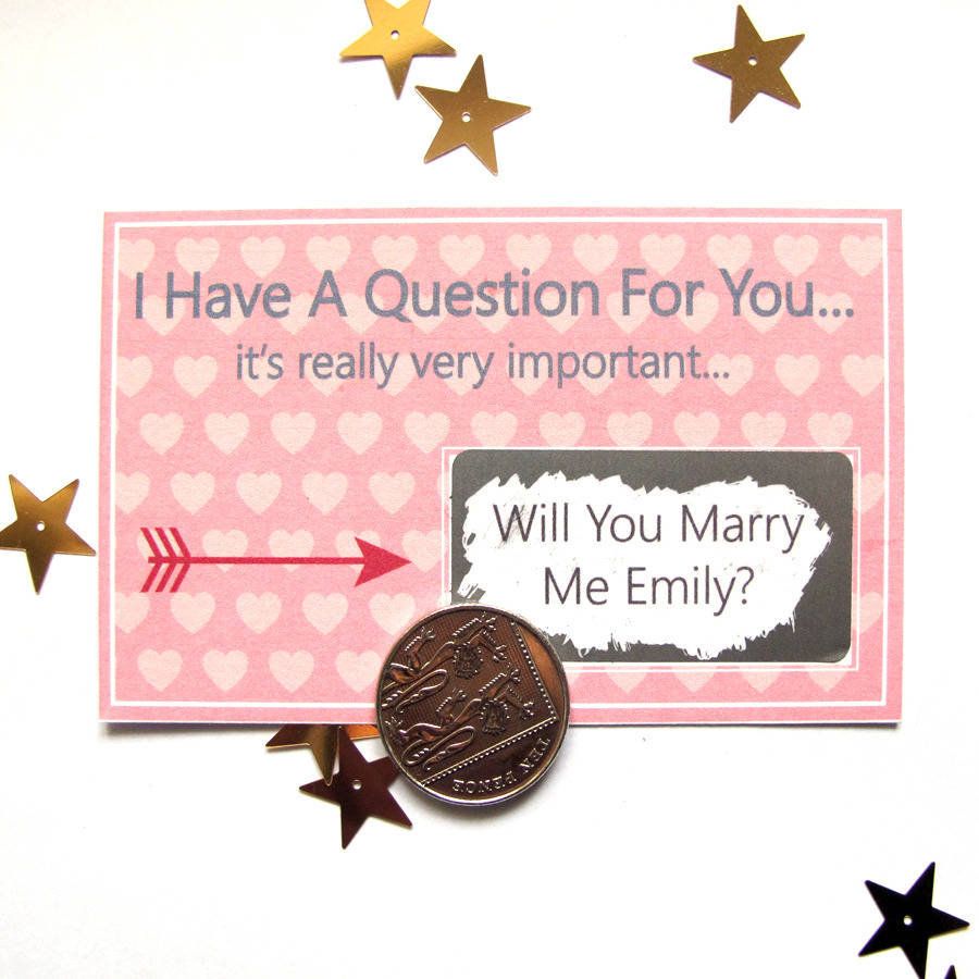 Personalised Will You Marry Me Scratch Card
