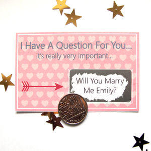 Personalised Will You Marry Me Scratch Card - proposal ideas