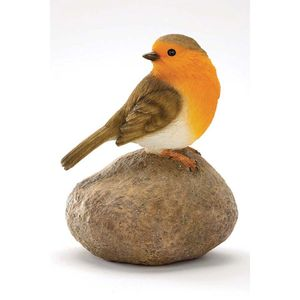 Robin On A Stone Garden Ornament - sculptures