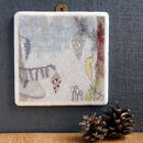 Treecreeper Large Marble Tile Wall Art