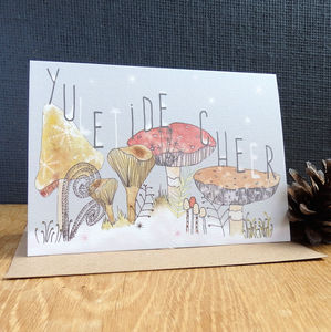'Yuletide Cheer' Christmas Card - cards & wrap