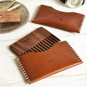 Personalised Wooden Beard Comb - men's grooming & toiletries