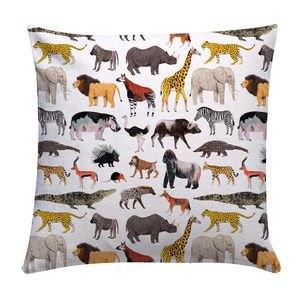 African Animals Cushion Cover