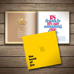 Personalised 18th Birthday Book Of Everyone - for him