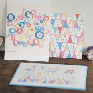 A Set Of Six Multipurpose Art Postcards With Envelopes