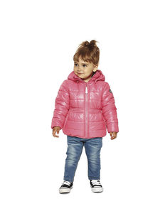 Girls Malvine Puffer Jacket In Fandango Pink - clothing