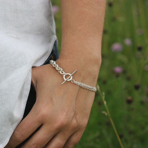 Silver Mixed Link Bracelet