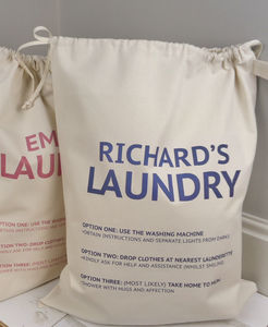 Personalised Laundry Bag - storage & organisers