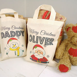 Personalised Christmas Tote Bag - personalised