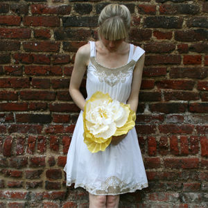 Giant Yellow Paper Flower - artificial flowers